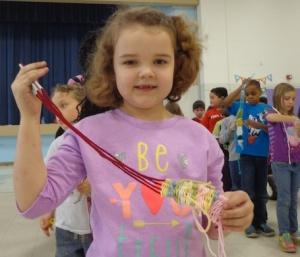 first grade straw weaving